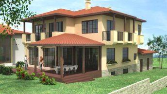Проект на еднофамилна къща в м. Острова,  с. Белащица – РЗП 344 кв.м