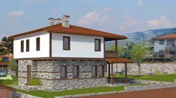 Проект на еднофамилна къща в с. Марково, общ. Родопи, обл. Пловдив - РЗП 194 кв.м