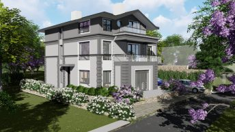 Проект на триетажна жилищна сграда в гр. Асеновград – РЗП 336 кв.м