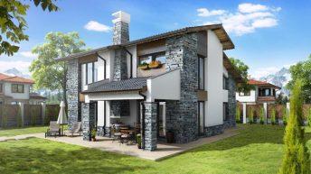 Проект на еднофамилна къща в с. Ресилово,  общ. Сапарева баня – РЗП 337кв.м