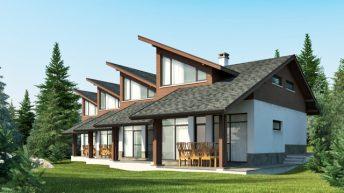 Редови къщи – част от градоустройствена и архитектурна концепция за вилна зона – с. Дреново, общ. Костинброд – РЗП 93 кв.м
