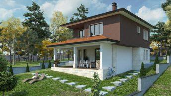 Проект на двуетажна къща в кв. Михайлово, гр. Банкя – РЗП 139 кв.м
