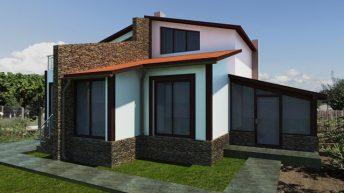 Проект – реализация за пристрояване на еднофамилна къща в общ. Каварна – РЗП 153 кв.м