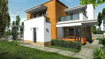 Проект на еднофамилна къща край морето – РЗП 159 кв.м