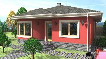 Проект на еднофамилна къща в с. Красново, обл. Пловдивска