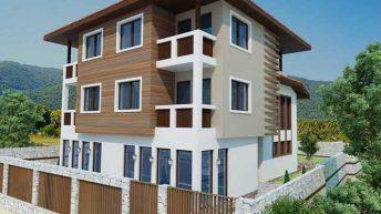 Проект на триетажна къща – близнак в с. Бачково, общ. Асеновград
