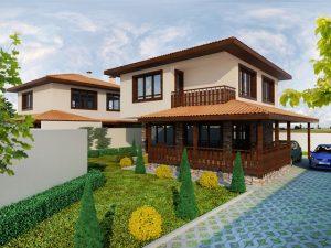 Проект на еднофамилна къща в кв. Остромила, гр. Пловдив