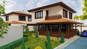Проект на еднофамилна къща в кв. Остромила,  гр. Пловдив – РЗП 127 кв.м
