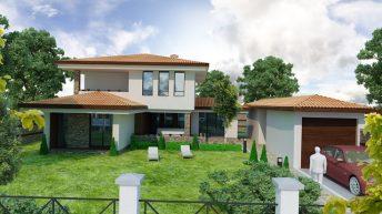 Проект на еднофамилна къща в с. Червен,  общ. Асеновград – РЗП 208 кв.м