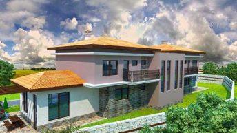 Проект на 2 еднофамилни къщи-близнаци в гр. Асеновград
