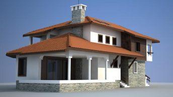 Проект за преустройство на двуетажна къща в с. Медовница, общ. Димово