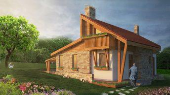 Проект на еднофамилна къща край гората в с. Дрен