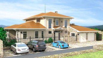Проект на еднофамилна къща в кв. Коматево,  гр. Пловдив – РЗП 441 кв.м