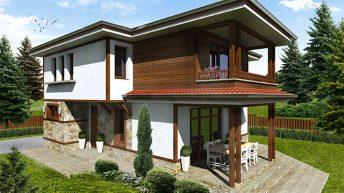 Проект на еднофамилна къща край гр.Перник