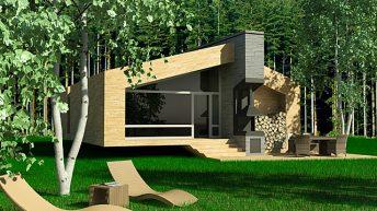 Идеен проект за едноетажна планинска къща