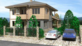 Проект на еднофамилна къща в кв. Коматево, гр. Пловдив