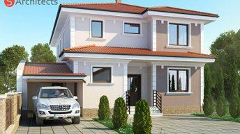 Проект на двуетажна еднофамилна къща в гр. Пловдив