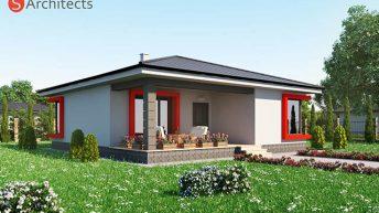 Проект на едноетажна къща в с. Крушево,  общ. Първомай – РЗП 114 кв.м