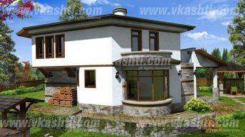 Проект за крайградска къща в с. Люлин,  общ. Перник – РЗП 198 кв.м