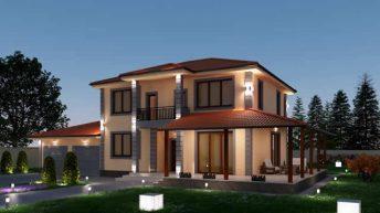 Проект на еднофамилна къща в с. Марково,  общ. Родопи – РЗП 267 кв.м