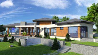 Проект на едноетажна къща в с. Червен, общ. Асеновград