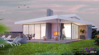 Проект на едноетажна двуфамилна къща  в кв. Лозово, гр. Бургас – РЗП 226 кв.м
