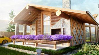 Проект на едноетажна къща в полите на  Родопи планина – РЗП 135 кв.м