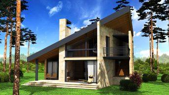 Проект на еднофамилна къща в околностите на гр. Пловдив