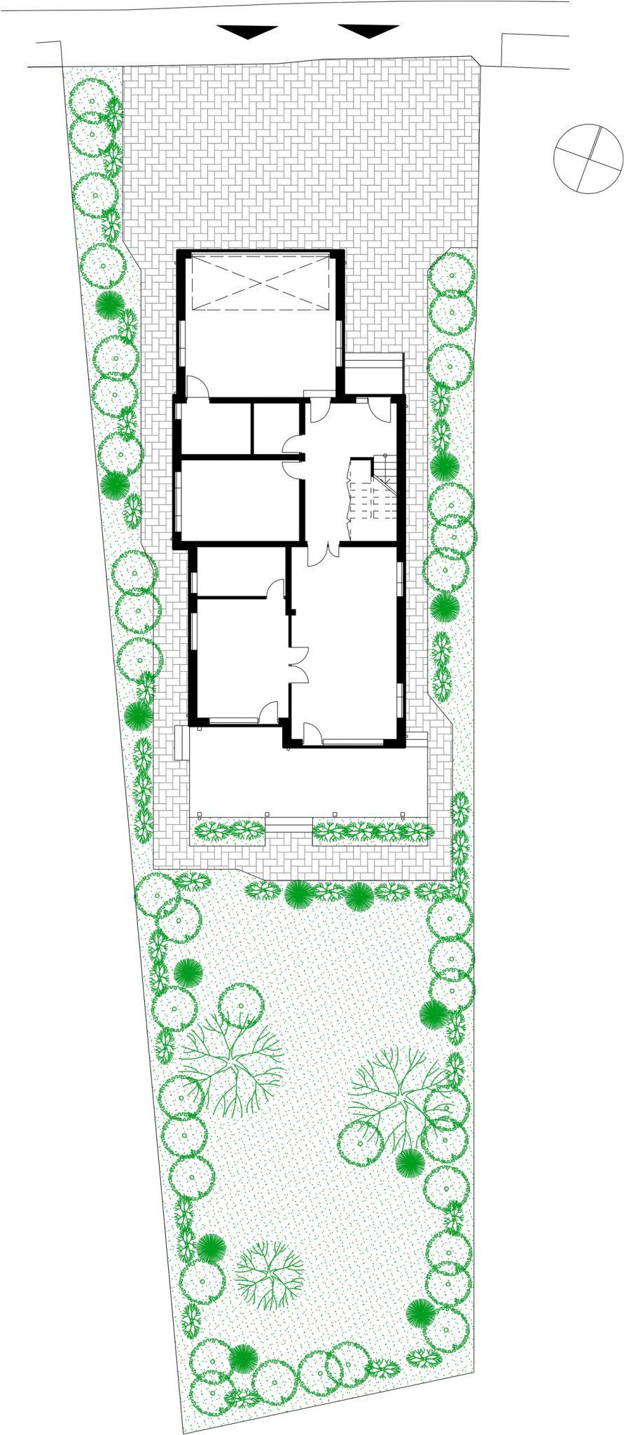Проект на еднофамилна къща с гараж в гр.Пловдив