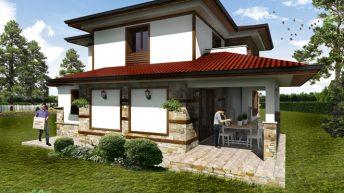 Проект на еднофамилна двуетажна къща в с.Стефаново - РЗП 179 кв.м