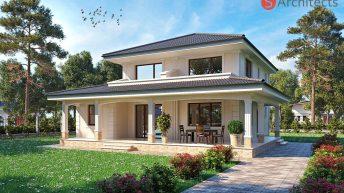 Проект на еднофамилна къща с веранда в гр. Сопот