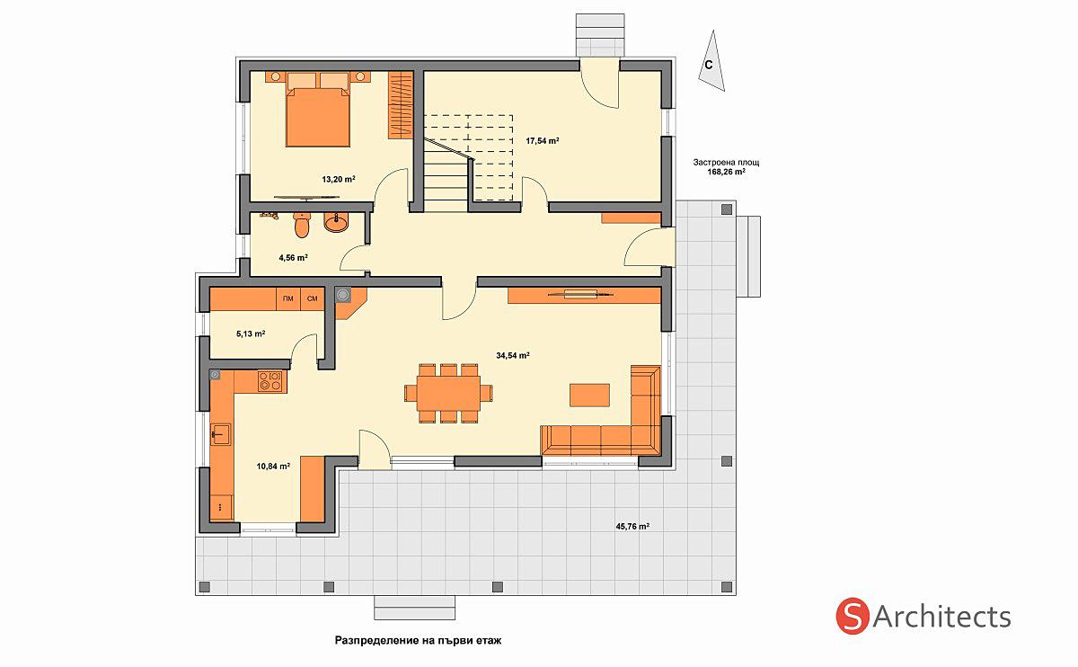 Разпределение на първи етаж