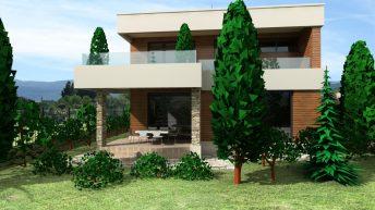 Проект на еднофамилна двуетажна къща в с. Първенец, обл. Пловдив